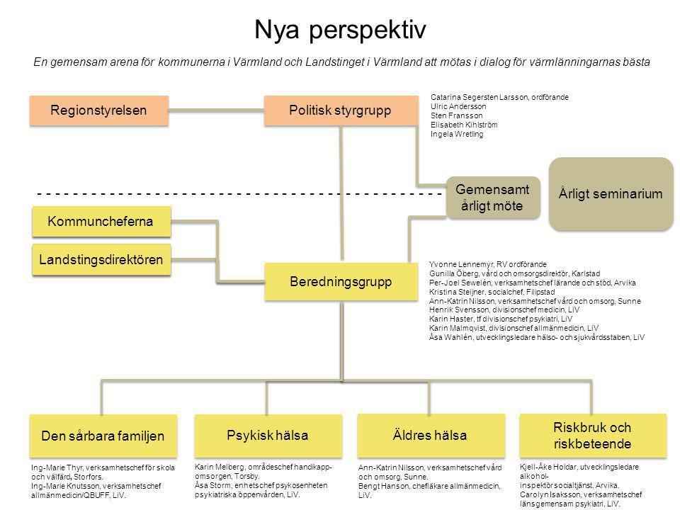 Nya perspektiv En gemensam arena för kommunerna i Värmland och Landstinget i Värmland att mötas i dialog för värmlänningarnas bästa.