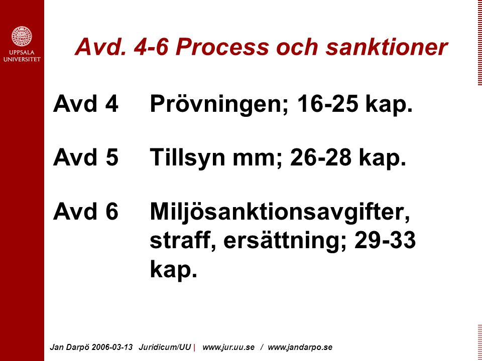 Avd. 4-6 Process och sanktioner