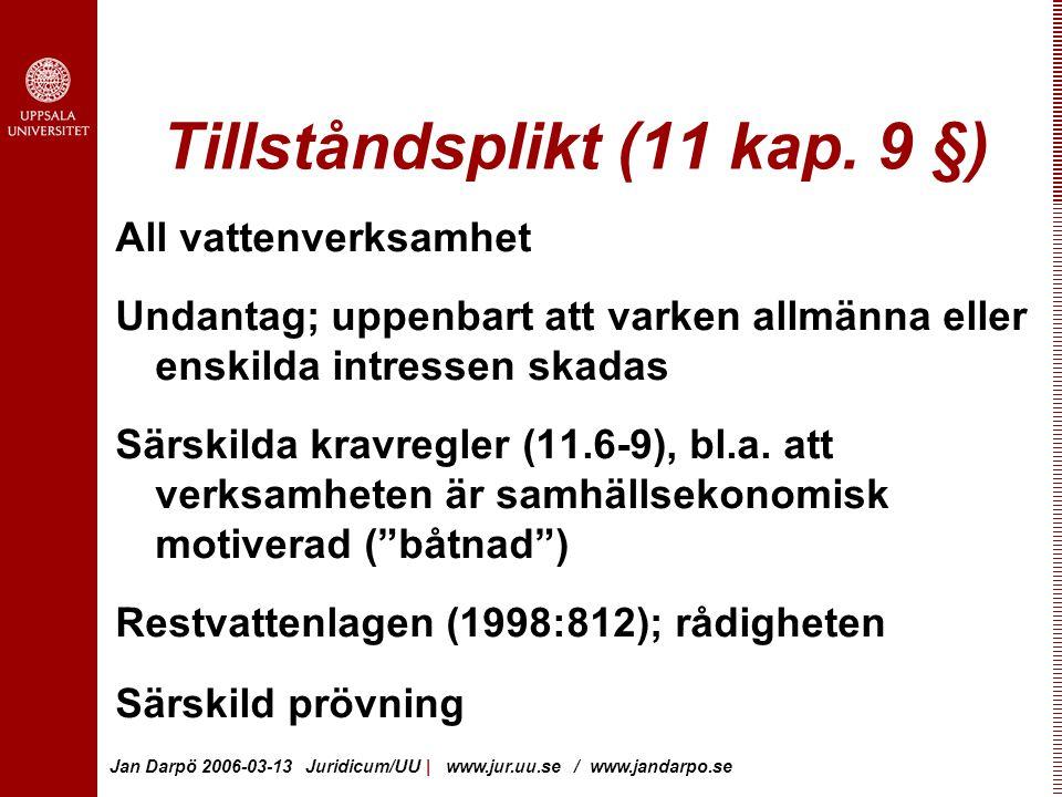 Tillståndsplikt (11 kap. 9 §)