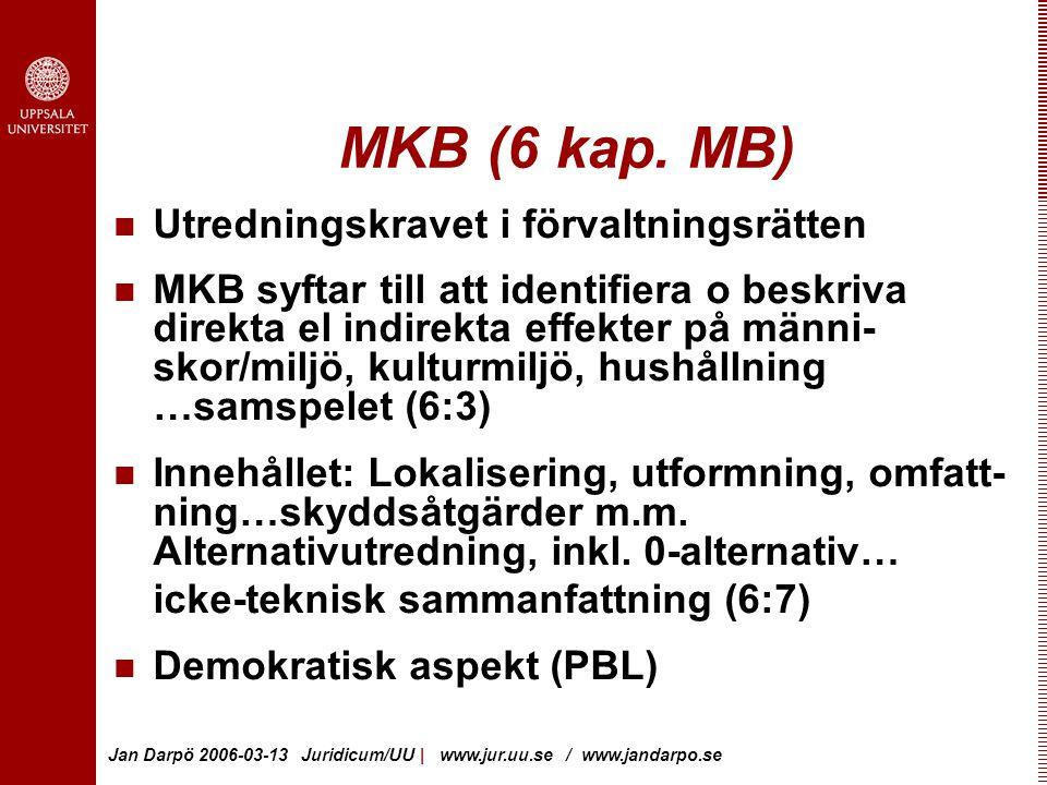 MKB (6 kap. MB) Utredningskravet i förvaltningsrätten