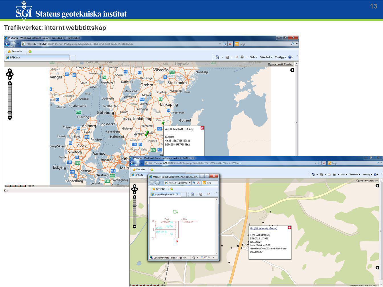 13 Trafikverket: internt webbtittskåp
