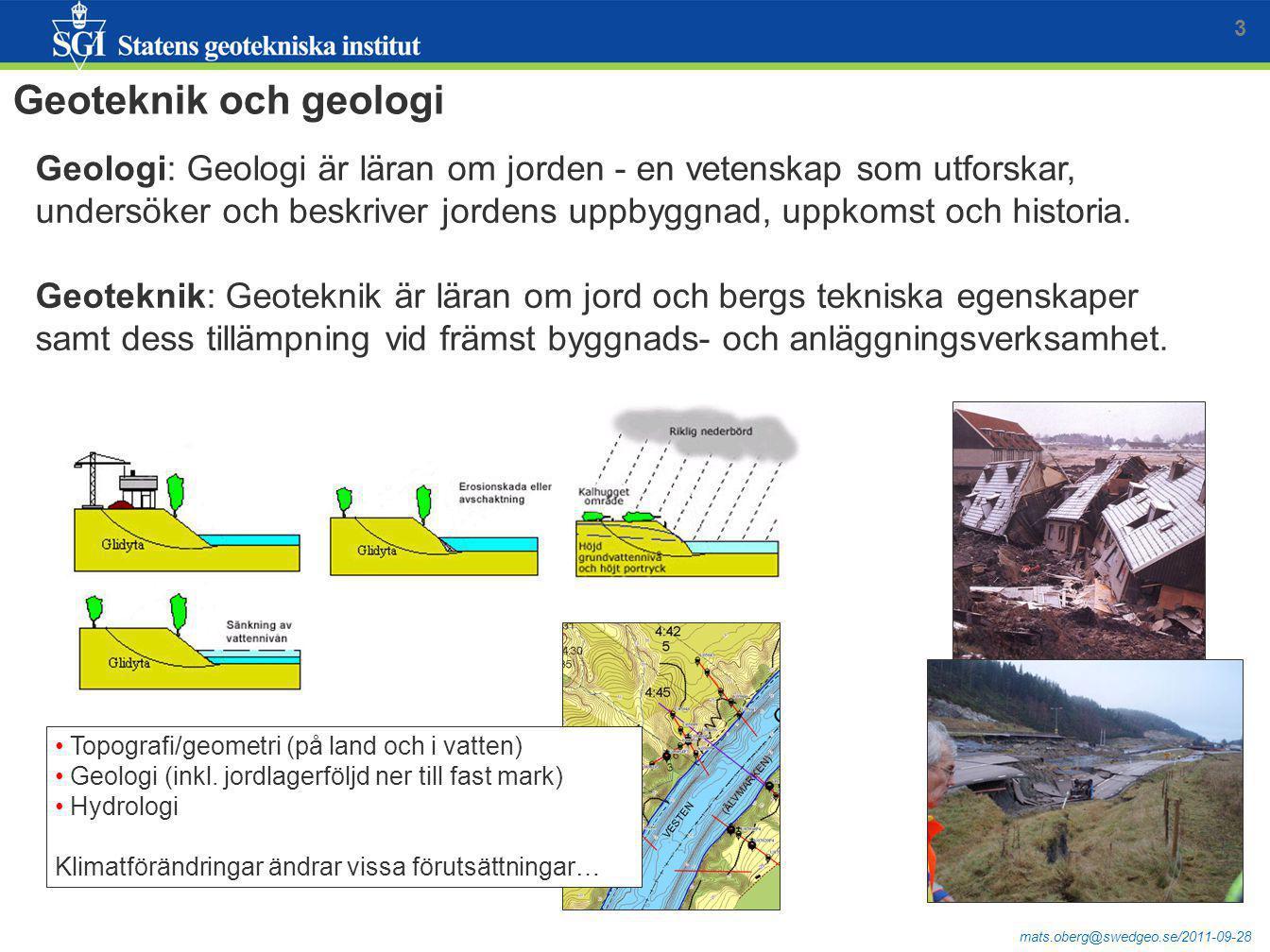 3 Geoteknik och geologi.