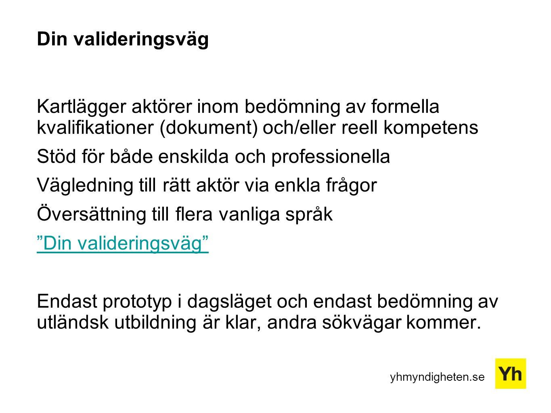 Din valideringsväg