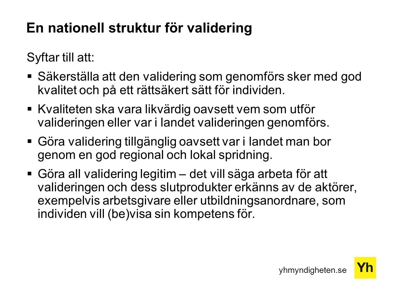En nationell struktur för validering