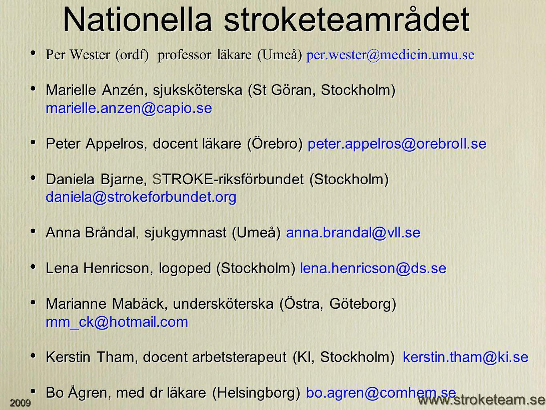 Nationella stroketeamrådet