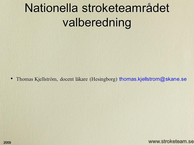 Nationella stroketeamrådet valberedning