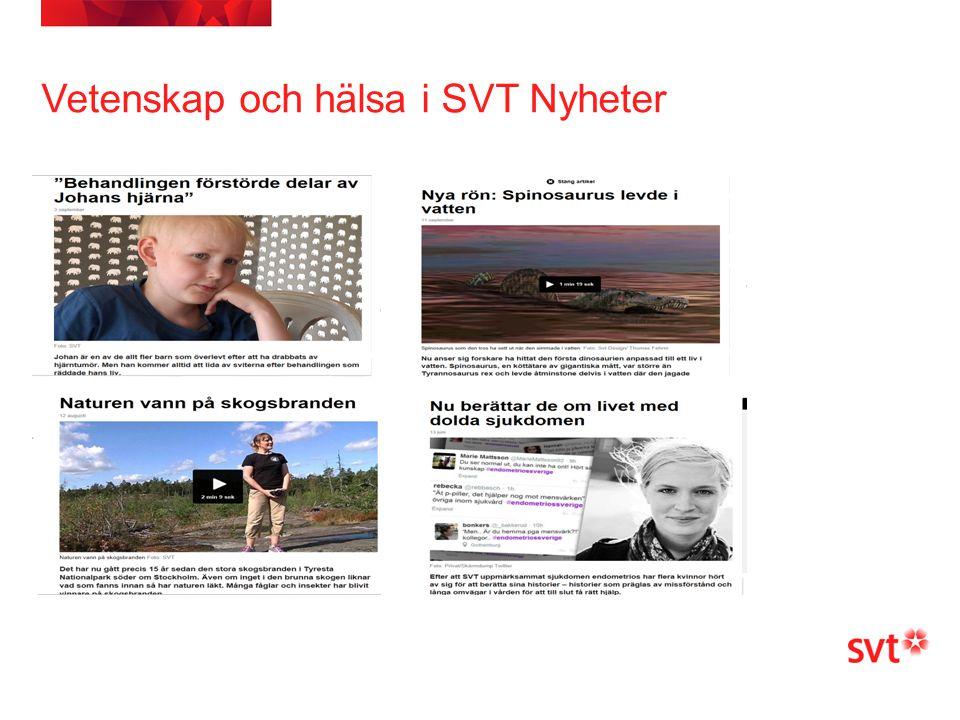 Vetenskap och hälsa i SVT Nyheter