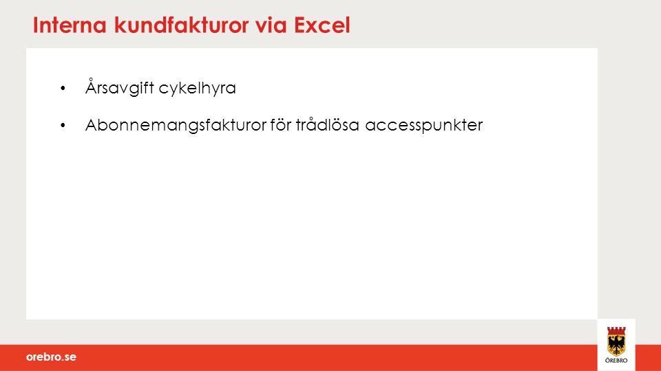 Interna kundfakturor via Excel