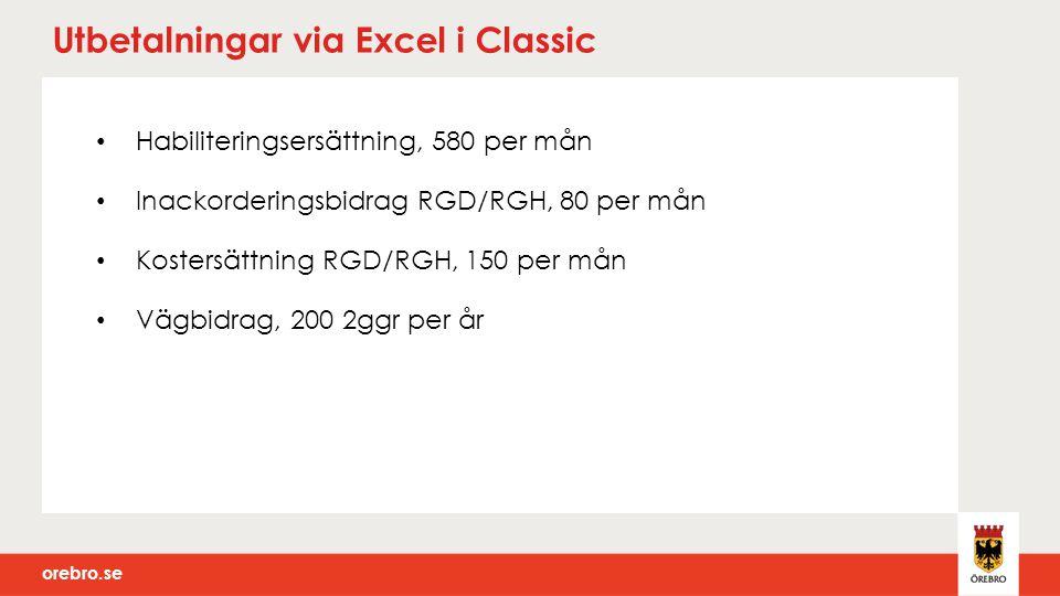 Utbetalningar via Excel i Classic