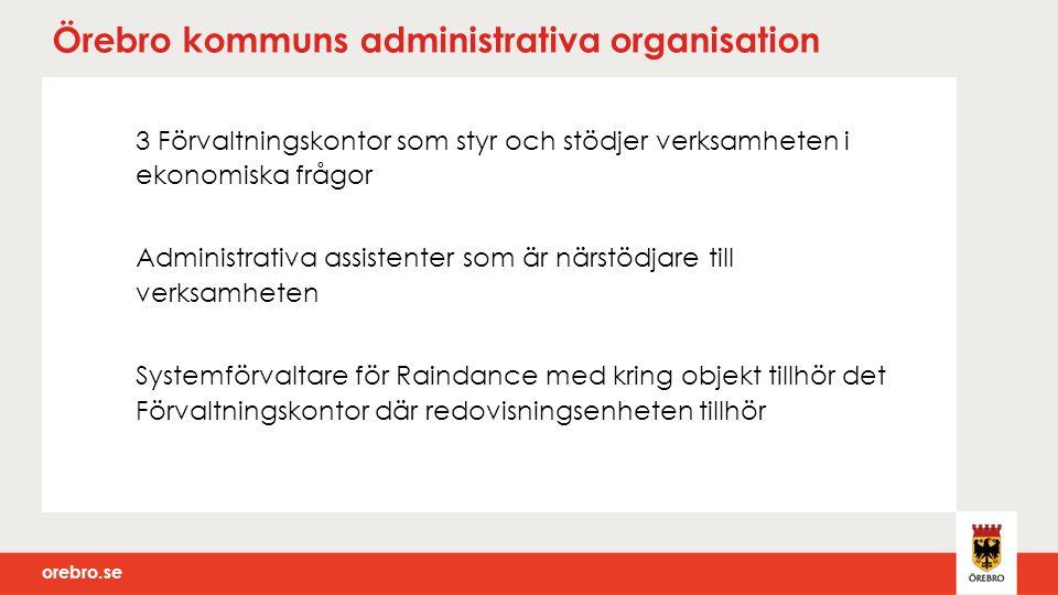 Örebro kommuns administrativa organisation