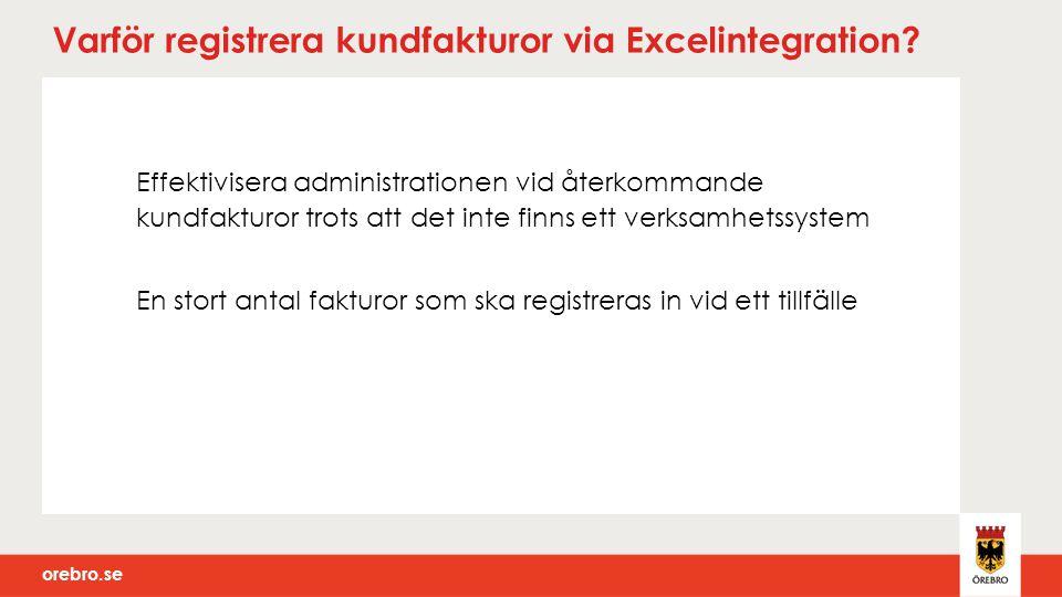 Varför registrera kundfakturor via Excelintegration