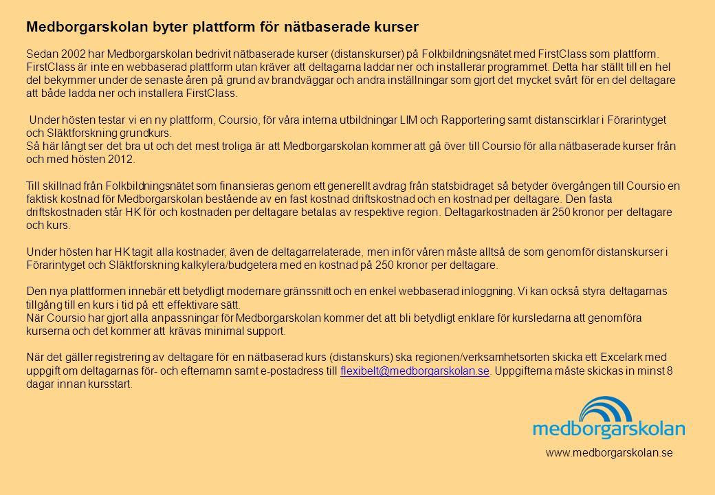 Medborgarskolan byter plattform för nätbaserade kurser