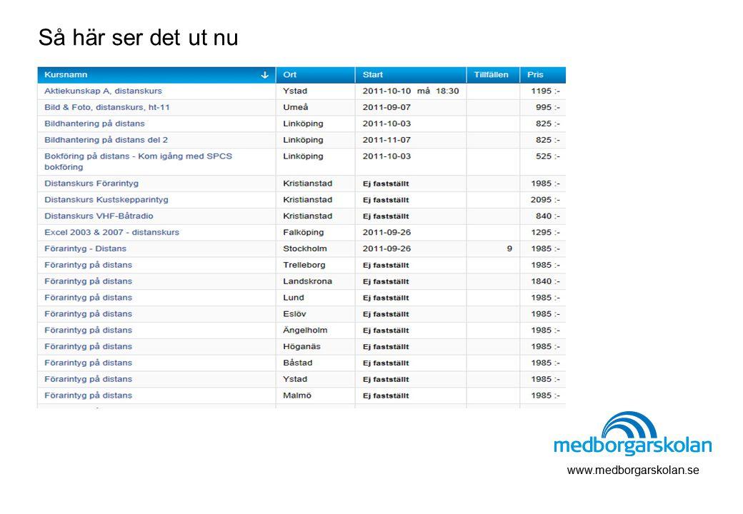 Så här ser det ut nu www.medborgarskolan.se