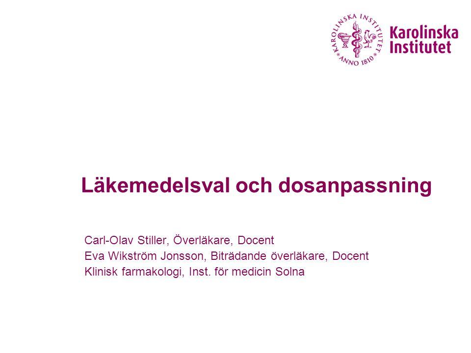 Läkemedelsval och dosanpassning
