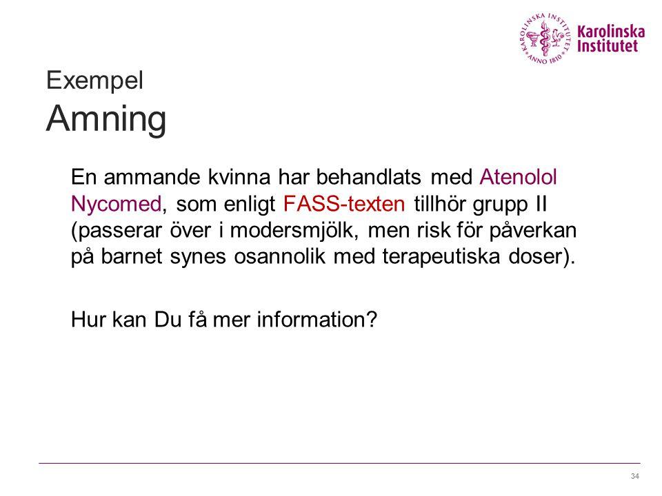 Exempel Amning