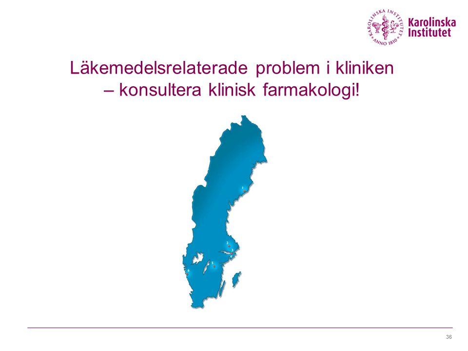 Läkemedelsrelaterade problem i kliniken – konsultera klinisk farmakologi!