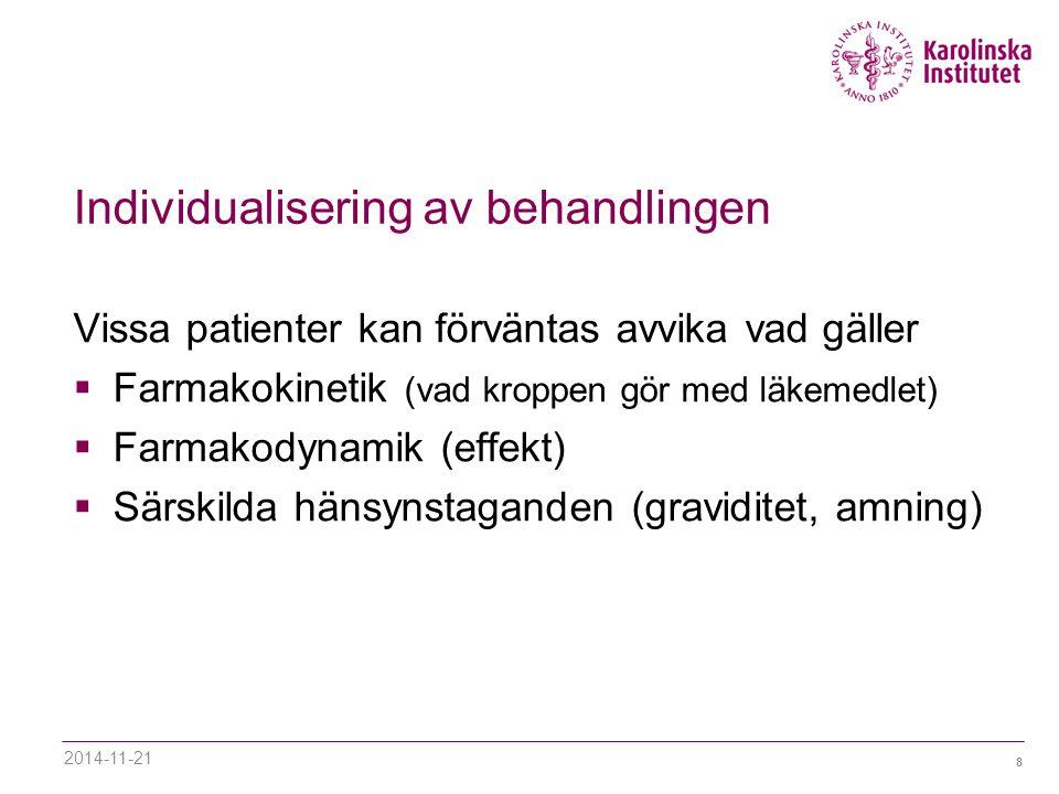 Individualisering av behandlingen