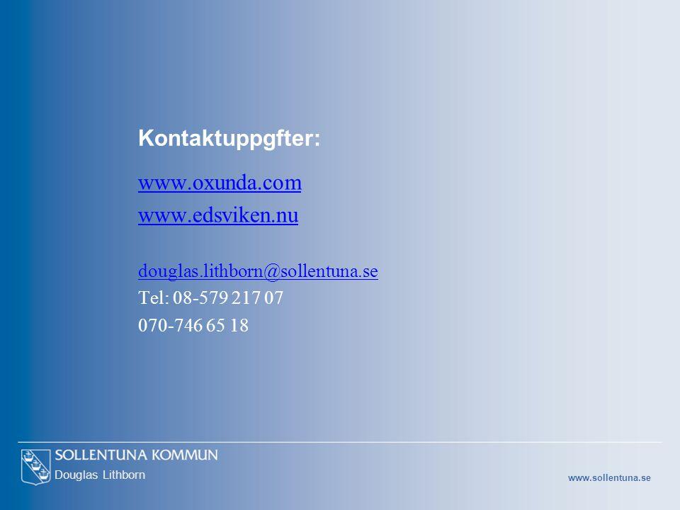 Kontaktuppgfter: www.oxunda.com www.edsviken.nu