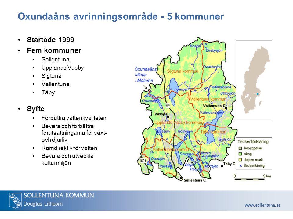 Oxundaåns avrinningsområde - 5 kommuner