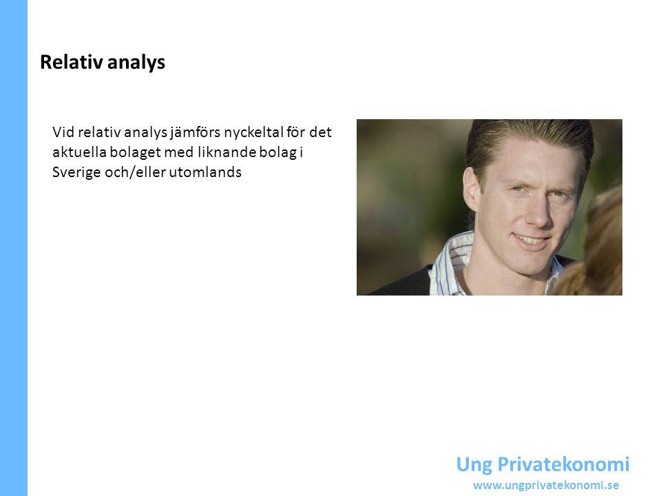 Relativ analys Ung Privatekonomi