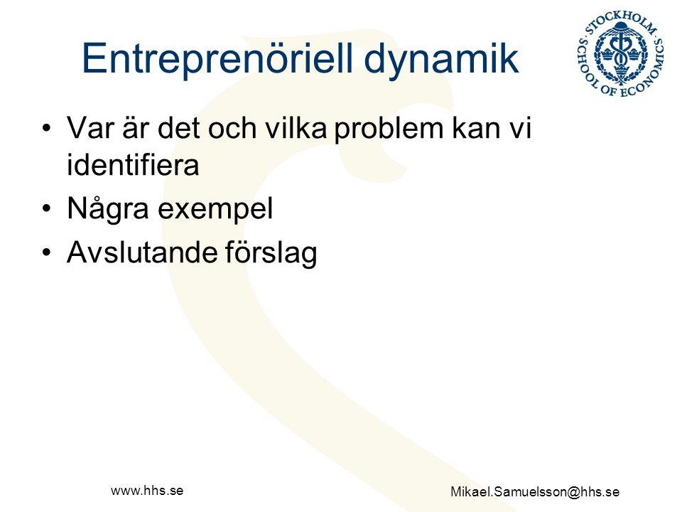 Entreprenöriell dynamik
