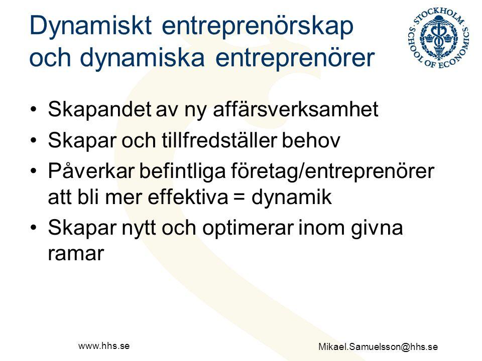 Dynamiskt entreprenörskap och dynamiska entreprenörer