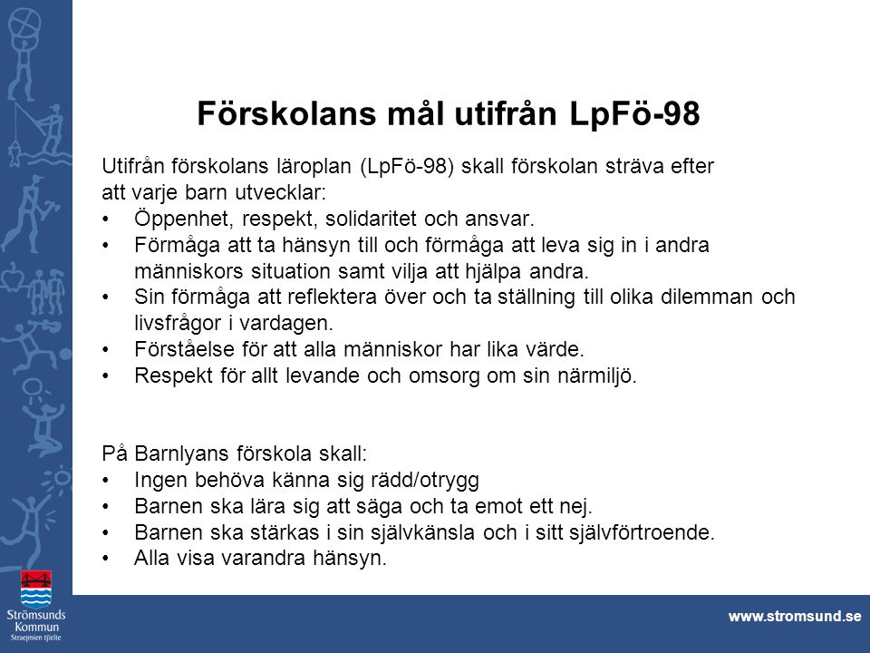 Förskolans mål utifrån LpFö-98