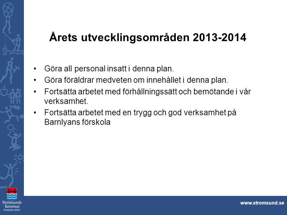 Årets utvecklingsområden 2013-2014