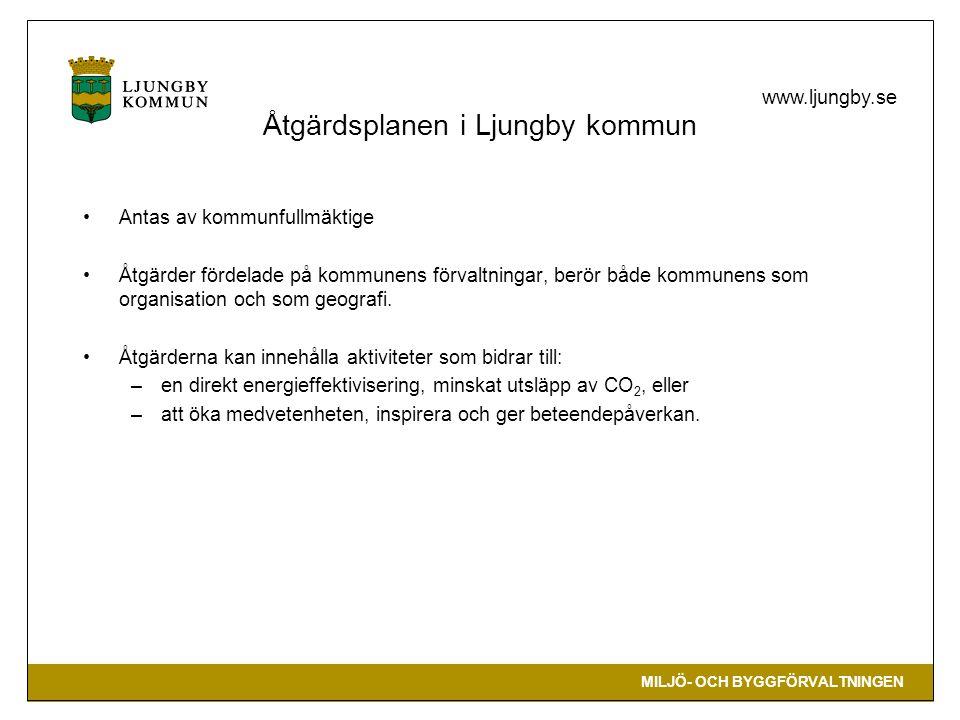 Åtgärdsplanen i Ljungby kommun