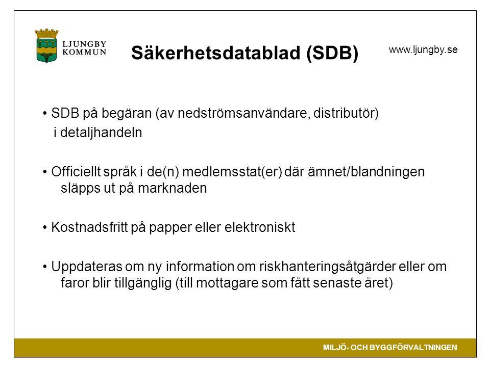 Säkerhetsdatablad (SDB)