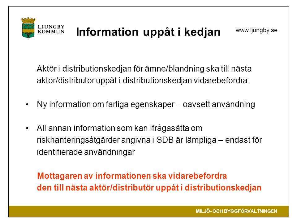 Information uppåt i kedjan