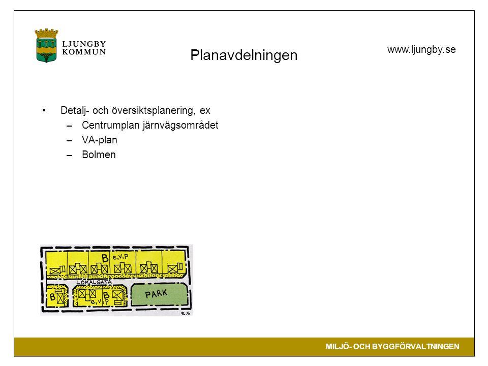 Planavdelningen Detalj- och översiktsplanering, ex
