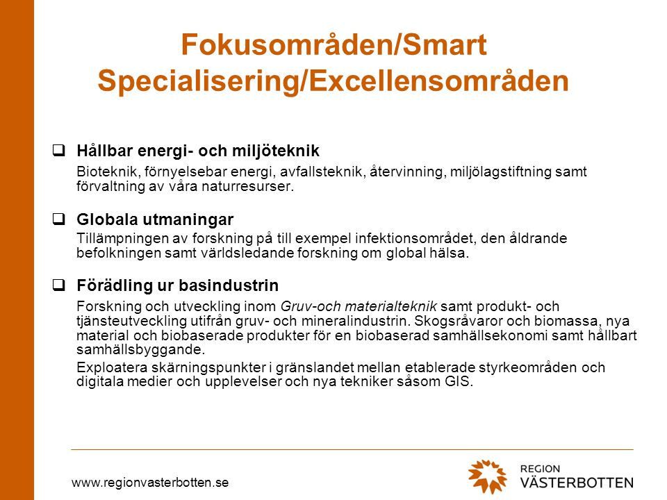 Fokusområden/Smart Specialisering/Excellensområden