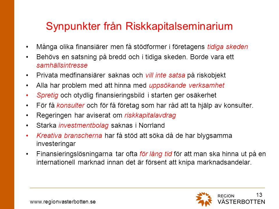 Synpunkter från Riskkapitalseminarium