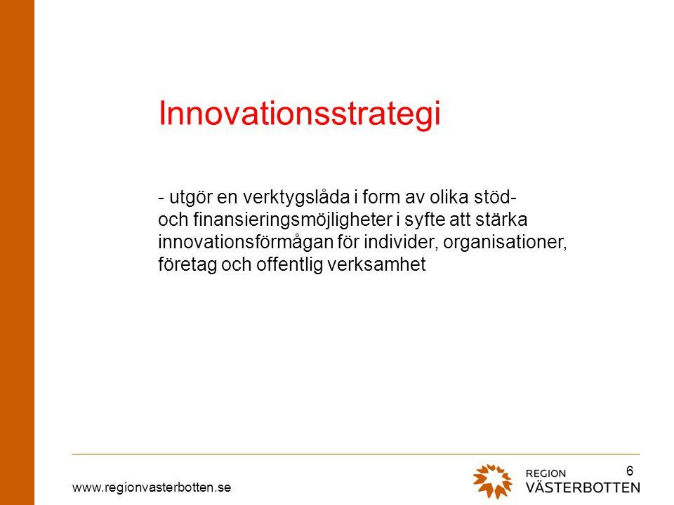 Innovationsstrategi - utgör en verktygslåda i form av olika stöd-