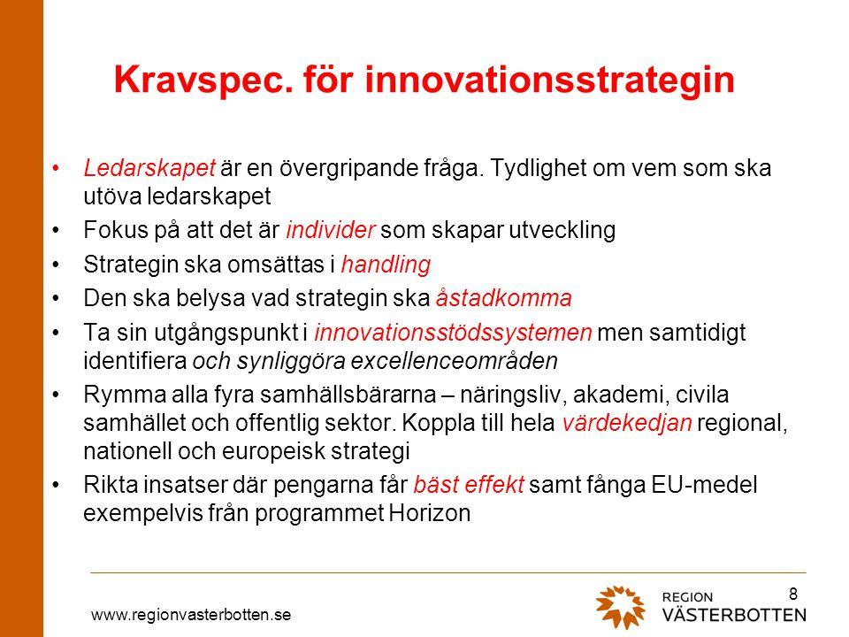 Kravspec. för innovationsstrategin