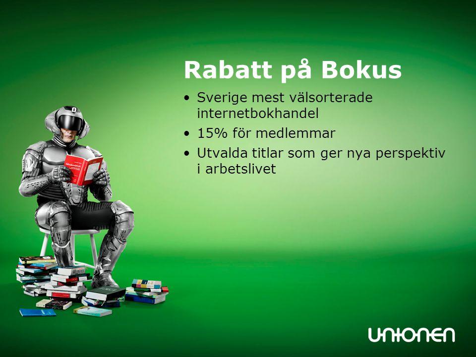 Rabatt på Bokus Sverige mest välsorterade internetbokhandel