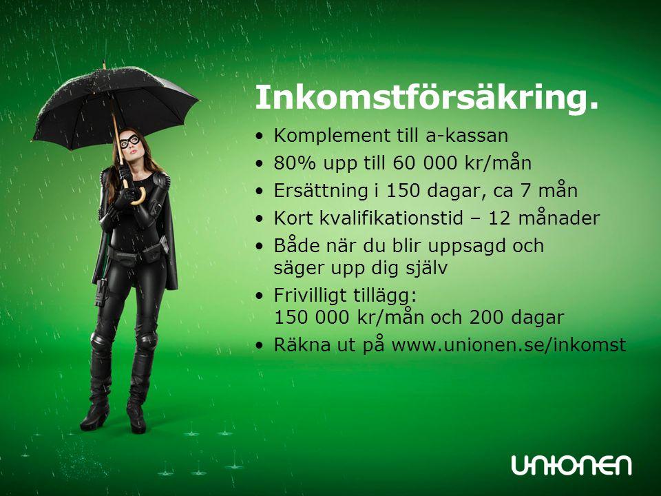 Inkomstförsäkring. Komplement till a-kassan 80% upp till 60 000 kr/mån