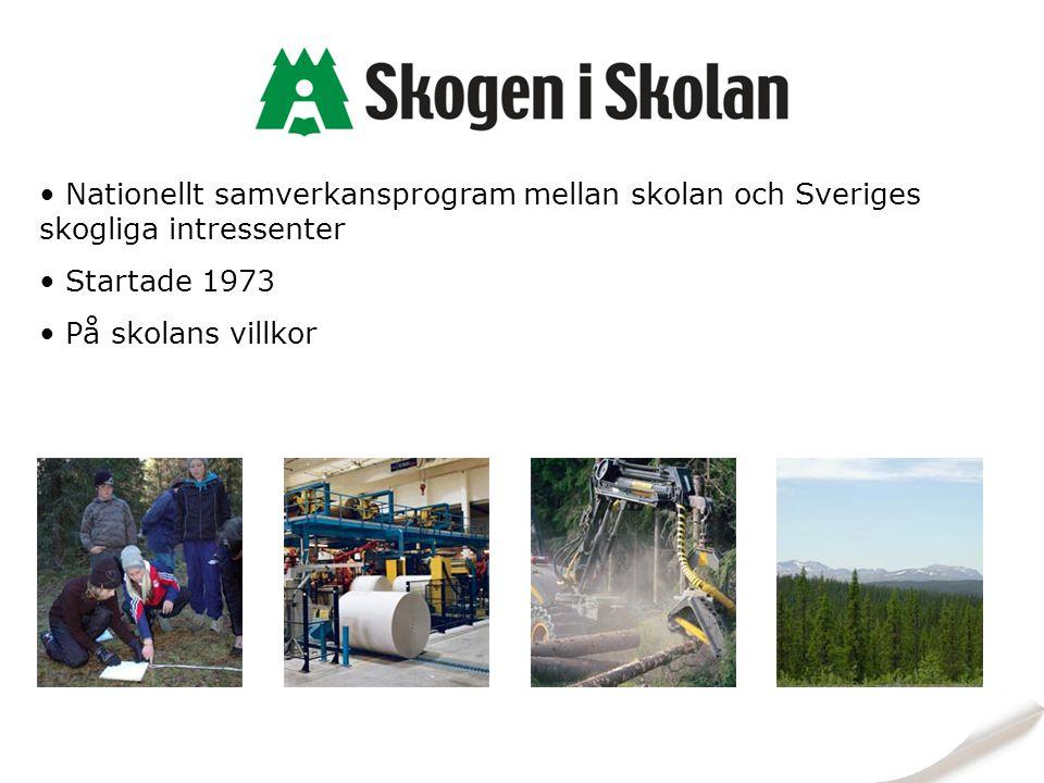 Nationellt samverkansprogram mellan skolan och Sveriges skogliga intressenter