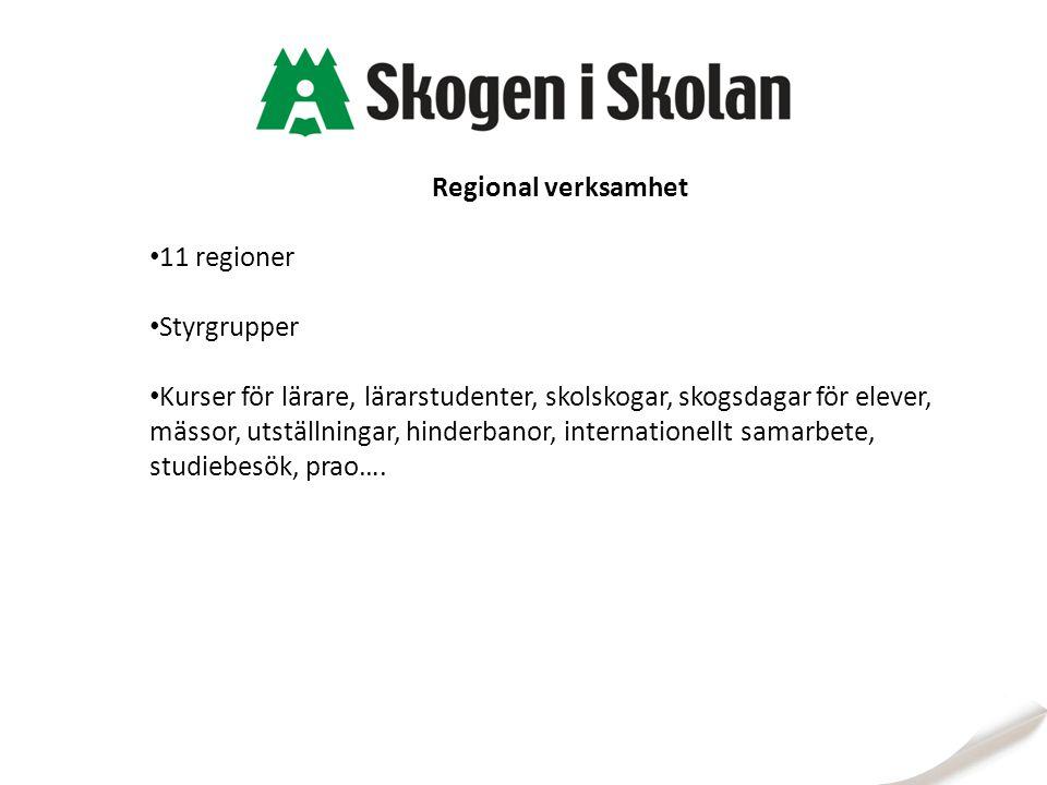 Regional verksamhet 11 regioner Styrgrupper