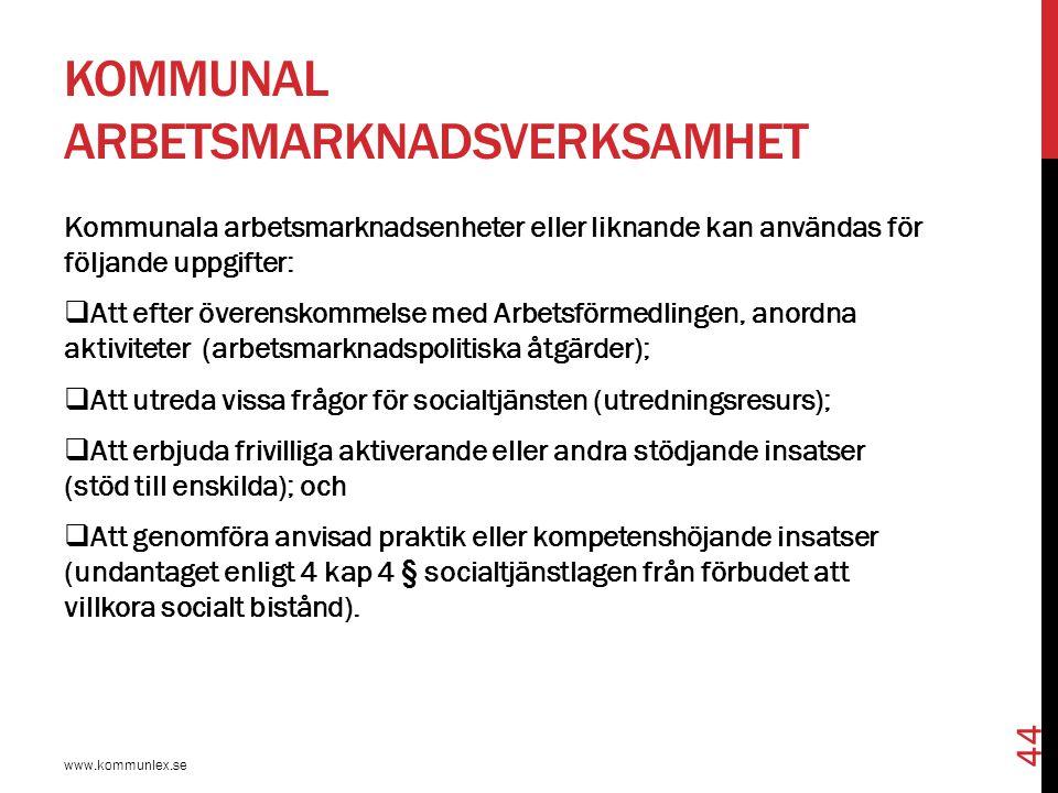Kommunal arbetsmarknadsverksamhet