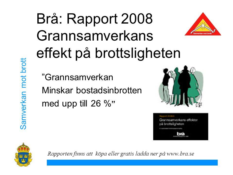 Brå: Rapport 2008 Grannsamverkans effekt på brottsligheten