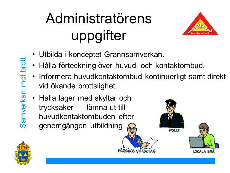 Administratörens uppgifter