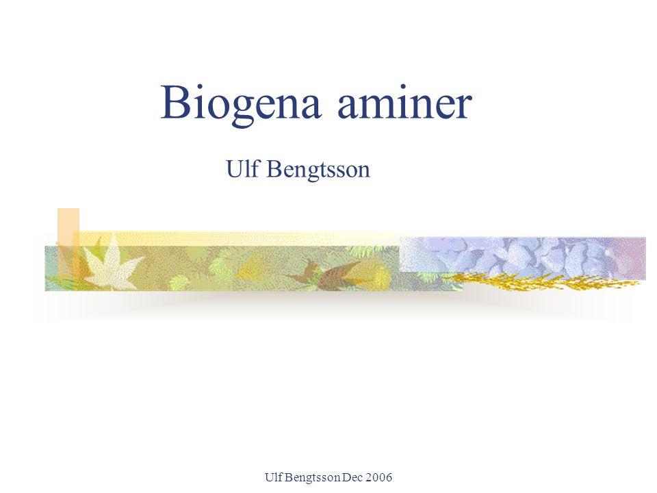 Biogena aminer Ulf Bengtsson