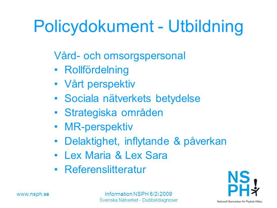 Policydokument - Utbildning