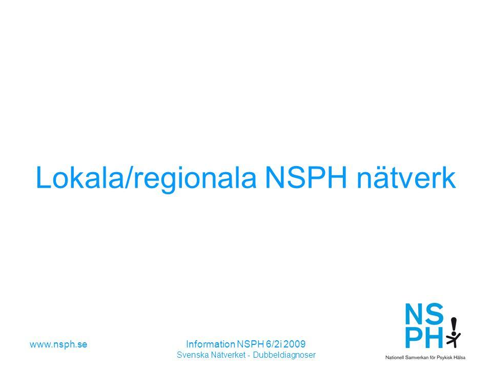 Lokala/regionala NSPH nätverk