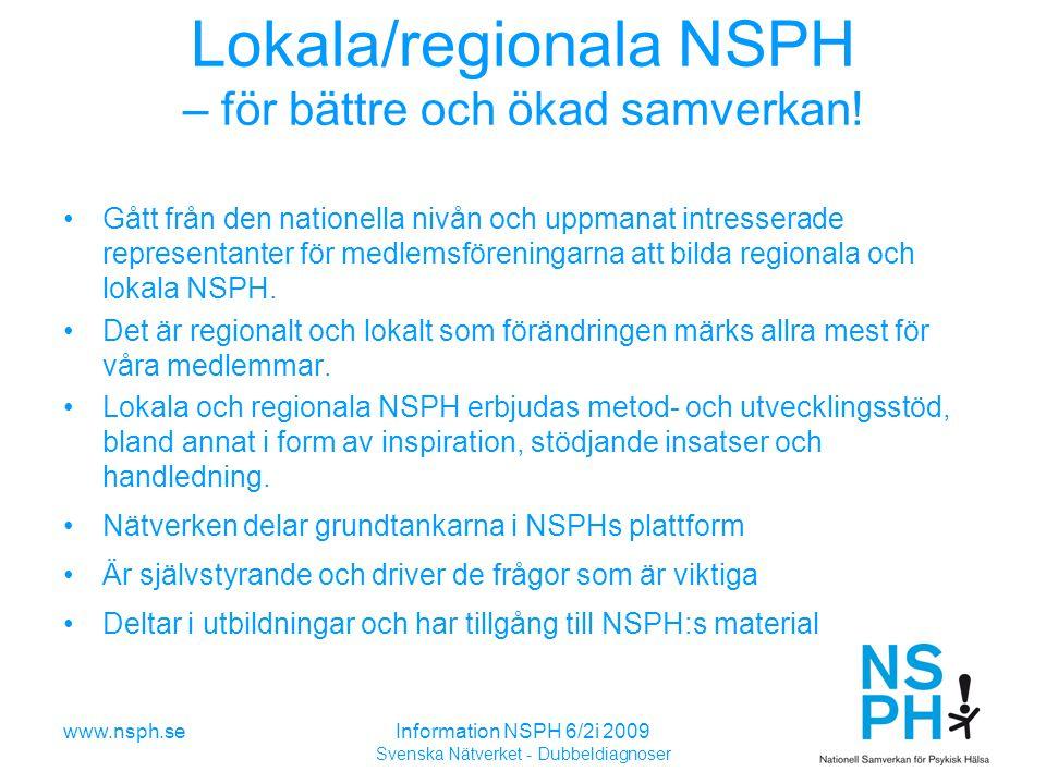 Lokala/regionala NSPH – för bättre och ökad samverkan!