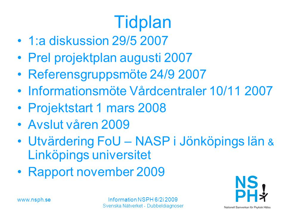 Svenska Nätverket - Dubbeldiagnoser