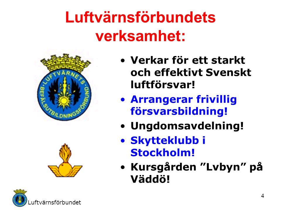 Luftvärnsförbundets verksamhet: