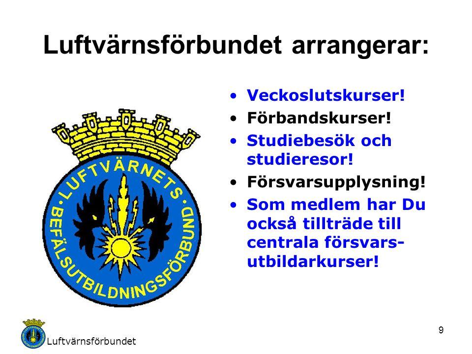Luftvärnsförbundet arrangerar: